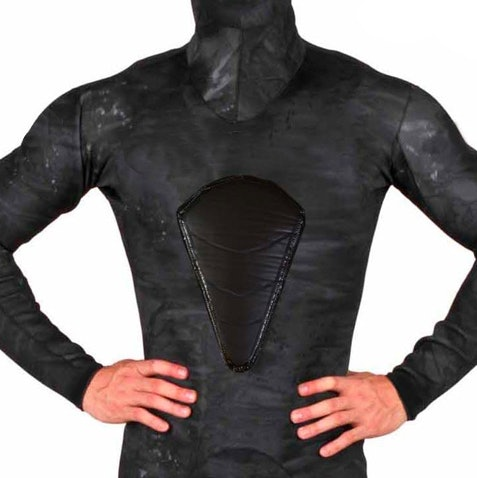 A Freediving Wetsuit with loading pad